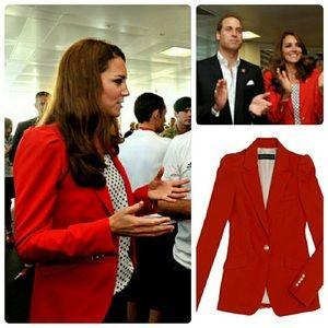 NWOT Zara Red Blazer as seen on Kate Middleton